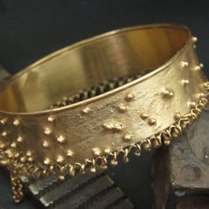 Anat perez Jewelry - Starling silver gold plated bracelet.Unique